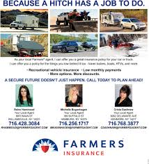 because a hitch has a job to do farmers insurance reine hammoud agency clarence ny