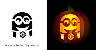 Pumpkin Carving Pattern Adorable 48 Best Free Minion Pumpkin Carving Stencils Patterns Ideas For
