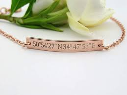 custom coordinates bracelet laude longitude bracelet custom jewelry end bracelet location bracelet coordinate bracelet gps location bracelet