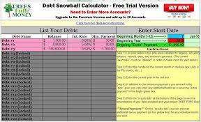 Free Debt Snowball Calculator Best Free Debt Snowball Calculator Program Excel Debt