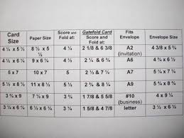 Gatefold Cards Chart Of Paper Dimensions Needed Where To