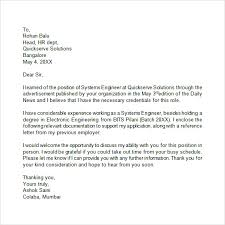 Unsolicited Cover Letter Sample Free 13 Application Letters In Pdf Word