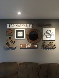 Gallery Wall In The Living Room. Wall Color: Benjamin Moore Chelsea Gray