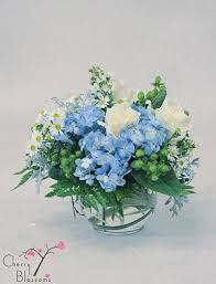 Blue & White Centerpieces