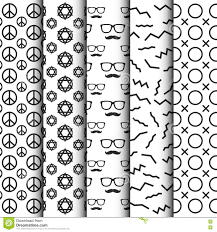 black and white background images hipster.  White Black And White Hipster Pattern Set With And White Background Images Hipster S