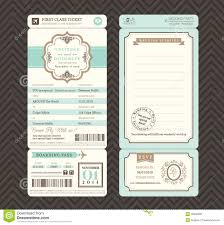 Invitation Ticket Template Vintage Style Boarding Pass Ticket Wedding Invitation Template Stock 5