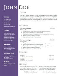 Creative Resume Word Template Download Free Creative Resume Template Doc Word Brilliant Decoration