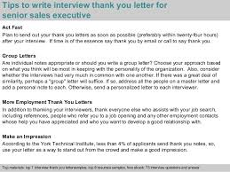 Best Solutions Of Senior Executive Interview Thank You Letter Sample