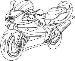 Drawn motorcycle coloring book 50