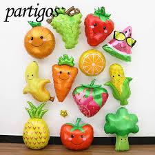 <b>1pcs Fruits Vegetables</b> Balloons Summer Party Decor strawberry ...