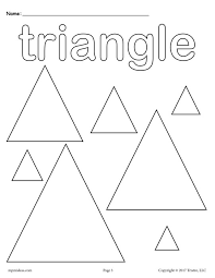 Small Picture FREE Triangles Coloring Page Triangle Shape Worksheet