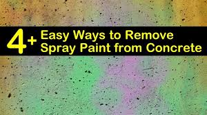 to remove spray paint from concrete
