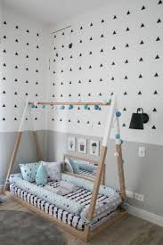 Floor beds fit in well with this method, as it encourages independence and  a proper level of freedom for the child.