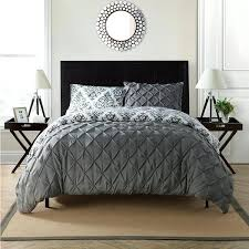 dove grey valencia pintuck duvet cover vcny heather reversible pintuck 3 piece duvet cover set grey
