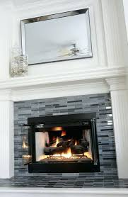 glass tile fireplace surround decor glass tile fireplace designs with contemporary fireplace