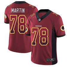 Redskins 78 Youth Football Drift Wes Limited Fashion Rush Washington Martin Jersey Red