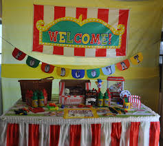 Homemade Circus Decorations Party On A Budget Backyard Carnival Party Catch My Party