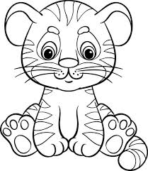 Tigre Facile Da Colorare Neonato Nel 2019 Disegni Illustrazioni