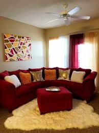 47 brilliant red couch living room