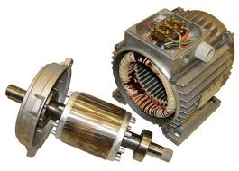 the rotor and the stator