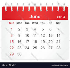 Stylish Calendar Page For June 2014