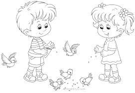 Drawing Boy And Girl Coloring Page 28 About Remodel Pictures With