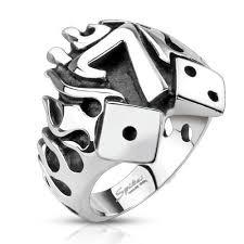 Кольцо Счастливая 7 с <b>игральными кубиками</b>, арт. 221486, цена ...
