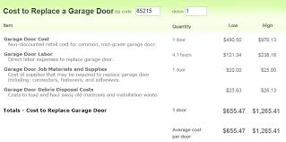 garage door installation cost phoenix average cost to install a standard garage door in phoenix