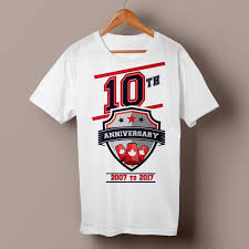 Company Anniversary T Shirt Design Ideas Modern Bold School T Shirt Design For Sport Stacking