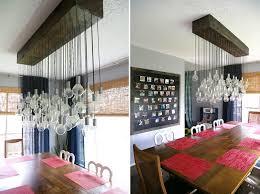 diy dining room chandelier with edison bulbs