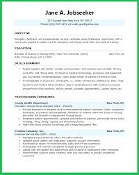 Employee Health Nurse Sample Resume Fascinating Objectives For Nursing Resume Letsdeliverco