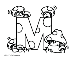 Free Alphabet Coloring Pages For Toddlers Printable Adults Letter M