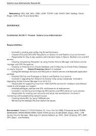 Linux Administration Sample Resumes Dadaji Us Simple Resume Template