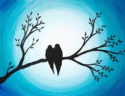 love birds painting