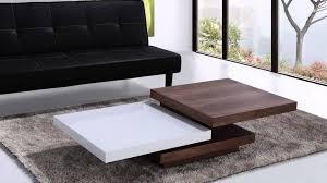 beliani coffee table swivel panels walnut and white aveiro eng you