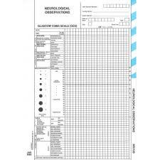 Neurological Observation Chart Mr189 Neurological Observations Rolls Australia Filing