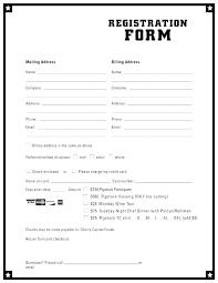 Basic Registration Form Template Altinrehber Info