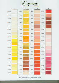 Exquisite Thread Color Chart Exquisite Poly Thread Color Chart Page 1 Embroidery