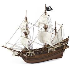 buccaneer caribbean pirate wood model ship kit by occre
