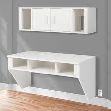 homcom floating wall mount office computer desk. BCP Designer Floating Desk With Hutch White Finish Wall Mounted Computer #BestChoiceProducts Homcom Mount Office