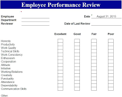 Sample Employee Performance Appraisal Performance Review Form Sample Employee Forms Appraisal Template