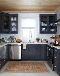 dark kitchen cabinets. Dark Cabinet, White Tile Kitchen, This Is My Dream Kitchen. I Don\u0027 Kitchen Cabinets