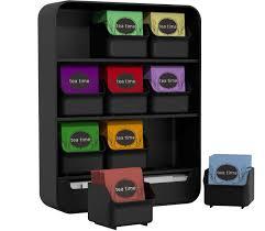 Tea Bag Display Stand Amazon Mind Reader 100 Removable Drawers Tea Bag Holder And 17
