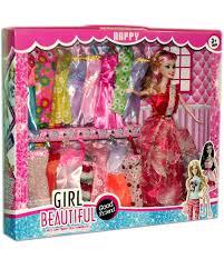 barbie doll dresses set for her multicolor