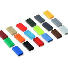 <b>100Pcs</b> Flat Tile <b>1X2</b> DIY Enlighten MOC Plastic Building Block ...