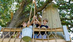 A basket/ pulley system.