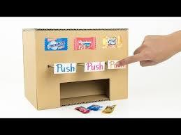 Cardboard Vending Machine Amazing How To Make Multi Candy Vending Machine From Cardboard YouTube In