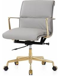 leather swivel office chair. M347 Gold/Grey Italian Leather Swivel Office Chair (Gold And Grey) C