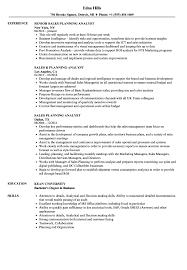 Sales Analyst Resume Sales Planning Analyst Resume Samples Velvet Jobs