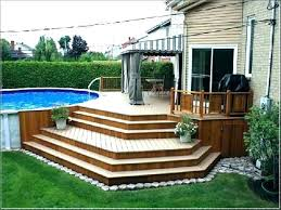 above ground round pool with deck. Luxury Above Ground Pool With Deck Cost Idea Round Small In Interior 50  Best Image On Pinterest Intended For Picture Deep End Included Installation Around Above Ground Round Pool With Deck